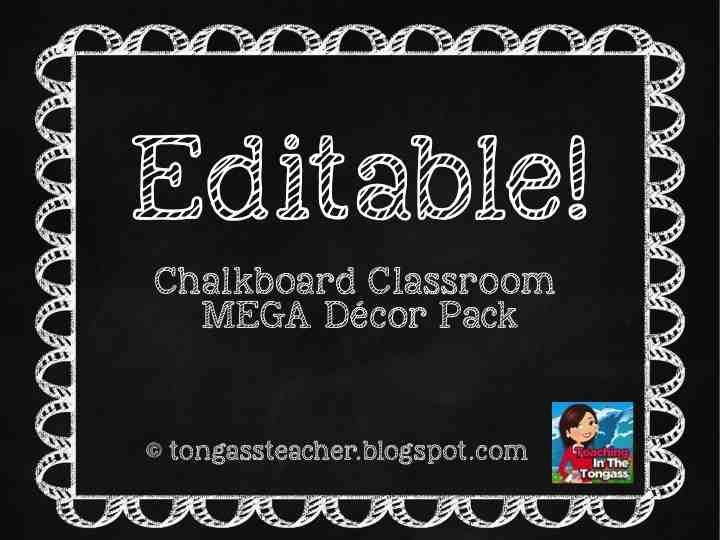 freebie and a chalkboard and burlap classroom...again