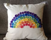 Button Rainbow Cushion