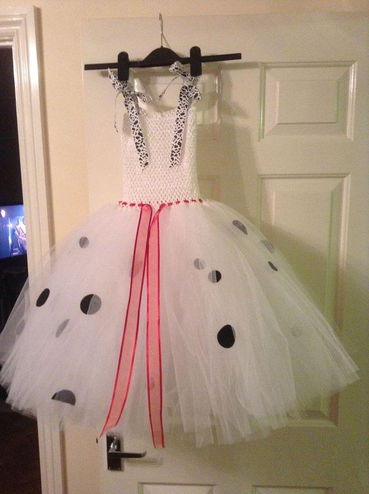 Handmade Cruella Tutu Dress age 3-6 years. Halloween Christmas Fancy dress