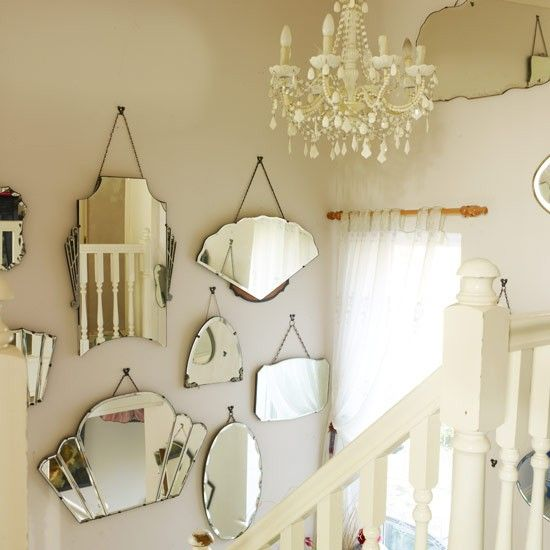 Hang light-reflecting mirrors | Hallway | Hall ideas | PHOTO GALLERY | Style at Home | Housetohome.co.uk