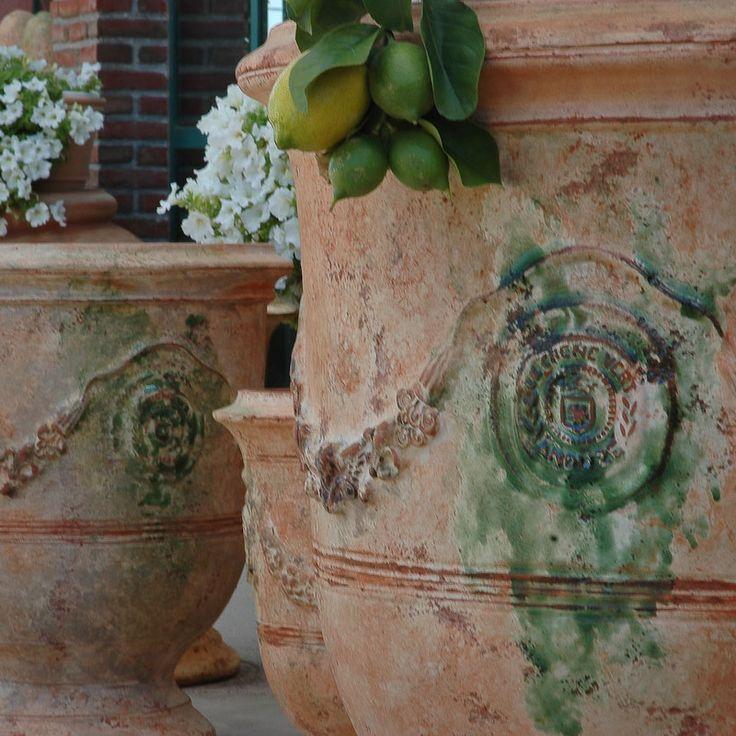 Poterie Le Chêne Vert - Vase dAnduze tradition flammé, vases dAnduze émaillés et patinés antica