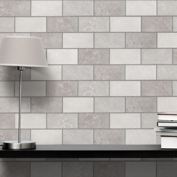 Modena Mix Of Grey Brick Tiles In 2020 Brick Tiles