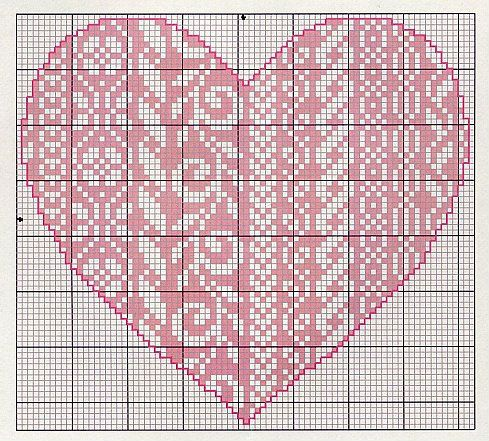 Gallery.ru / Фото #23 - Monocromatico - Blackwork - mantecada   Folklore Heart chart 3