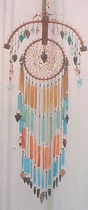 Stained Glass Chimes-looks like a Dream Catcher ♥
