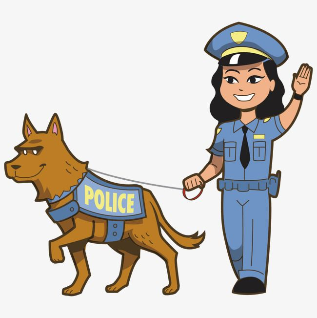 Police And Police Dogs Png And Vector Cute Animal Clipart Female Police Officers Animal Clipart