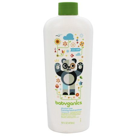Babyganics Alcohol Free Foaming Hand Sanitizer Fragrance Free 16