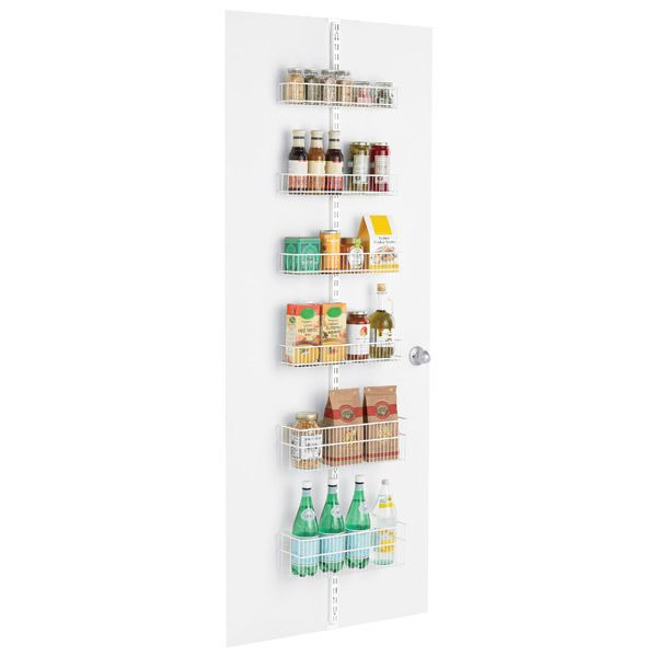 """Price $86.92 elfa Pantry Door & Wall Rack White   17-1/8"""" x 5-1/4"""" x 80"""" h 10061086  Available for Shipping * Cannot be expedited  $86.92ea  reg..."""