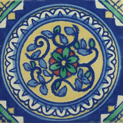 Especial Decorative Tile - Circulo De Flores – Mexican Tile Designs