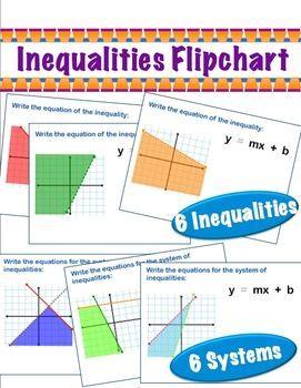 Inequalities Flipchart for Promethean Board