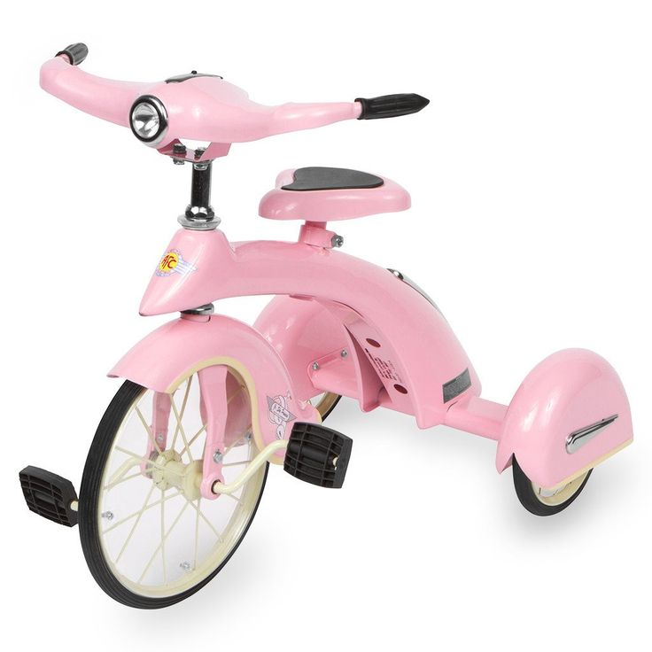 Your Little Princess will fall in Love with her New Trike. This will make her feel like a big kid! Make Heads Turn with this Beautiful Pink Sky King Junior Trike by Airflow Collectibles. Styled after