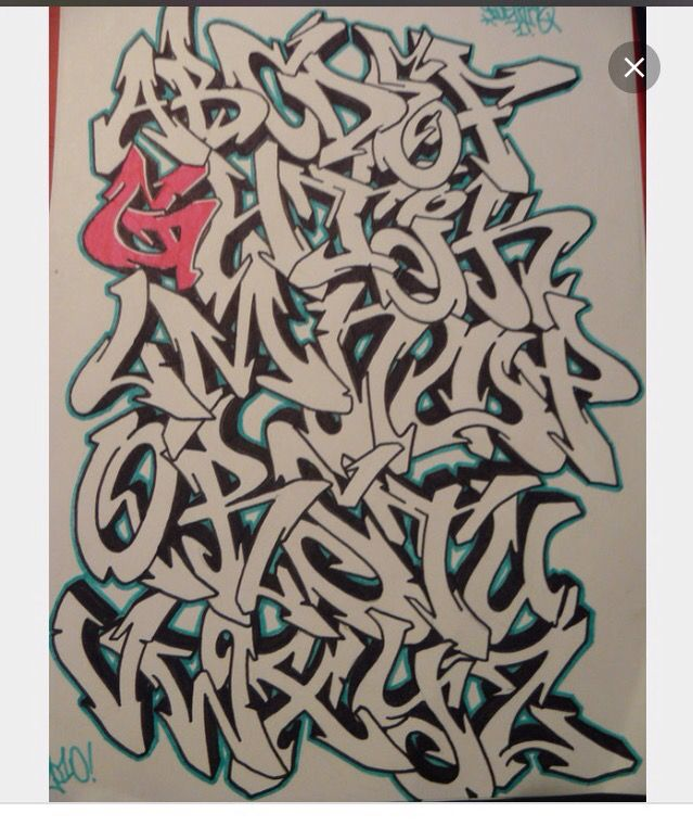 17 Best Images About Calligraphy Alphabets Grafitti On