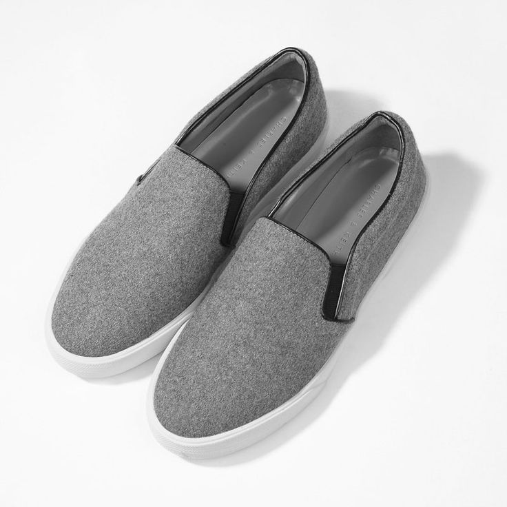 Rubber Sole Loafers - Grey - Flats - Shoes   CHARLES & KEITH
