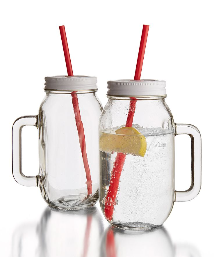 Clear 24-Oz. Tumbler Jar - Set of Two