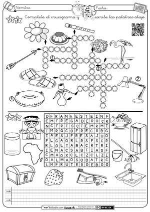 Crucigrama y sopa Fl-Fr