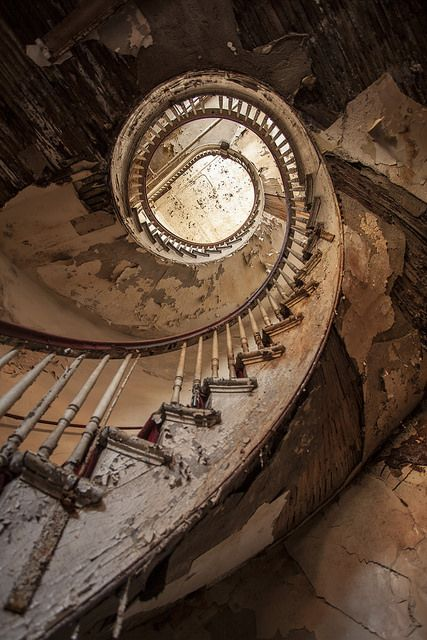 swirled.- staircase of an abandoned hotel in Holyoke, MA | Flickr - Photo Sharing!