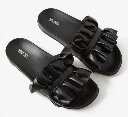 300f5dd7a874 Michael Kors Women s Size 8 Black Bella Sport Slide Ruffled Sandal Shoes  NWT  MichaelKors  Slides  Casual