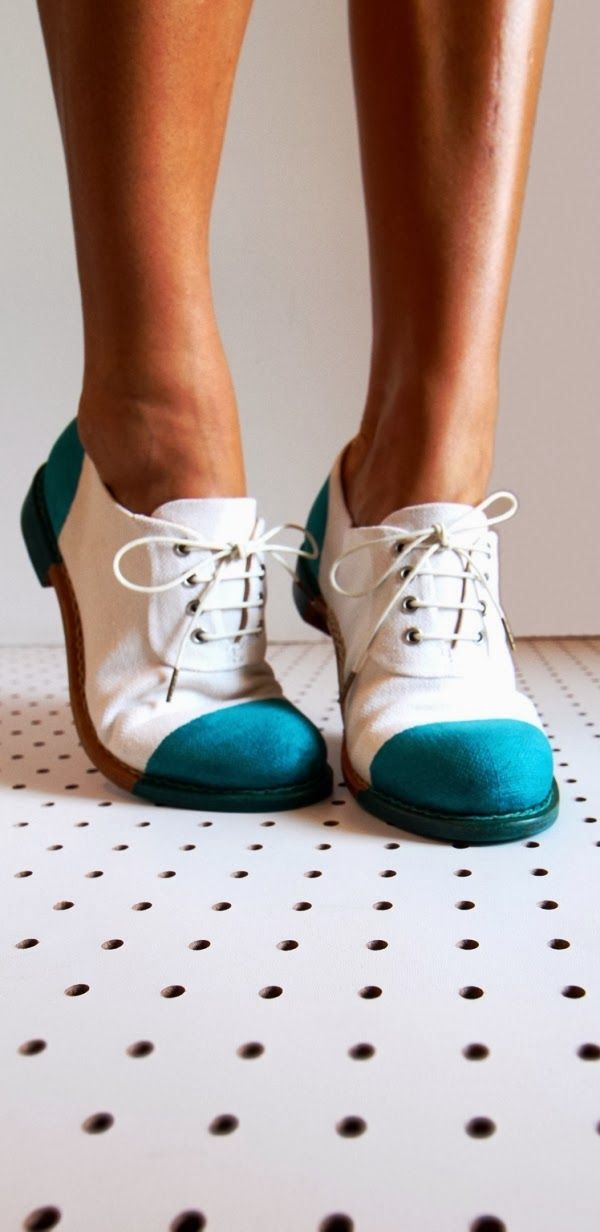 Canvas Oxford Office Shoes from Angela Scott. I need these in myblife