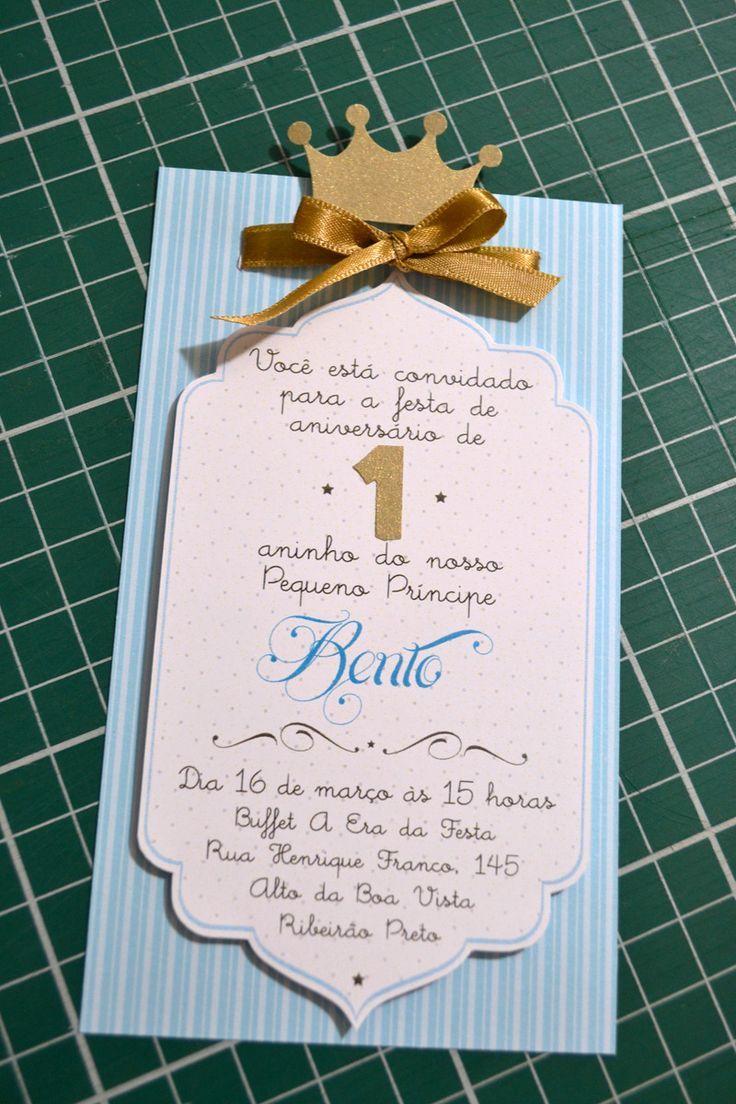 Convite personalizado O Pequeno Príncipe | Café Noir Estudio | Elo7
