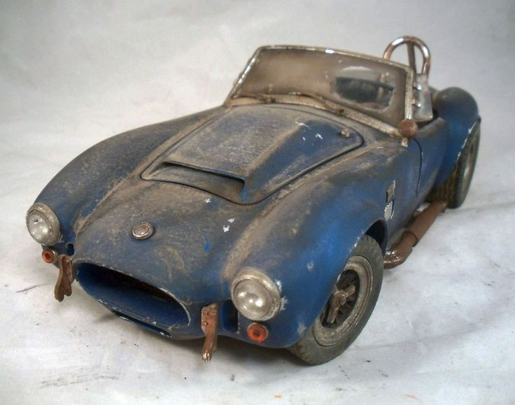 1966 Shelby Cobra Super Snake Barn Find Custom Weathered 1 18 Unrestored Diecast