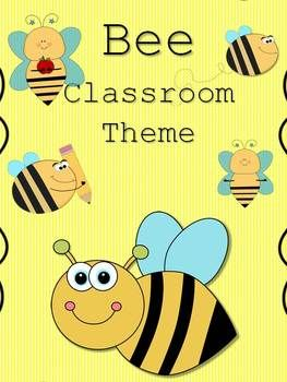 Bee Classroom Theme 100 Pages Bees