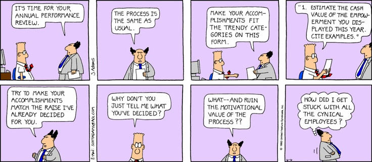 Performance appraisal - the home game - The Dilbert Strip for June 6, 1993