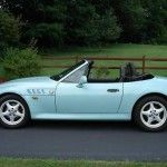 Bmw Z3 Convertible In Sea Foam Turquoise Green With
