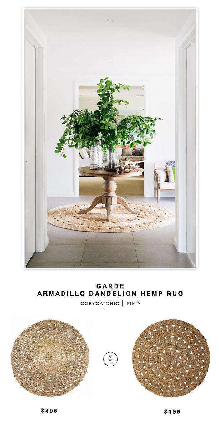 Garde Armadillo Dandelion Hemp Rug