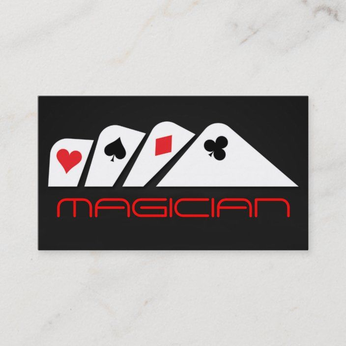 Magic Magician Card Poker Trick Entertainment Zazzle Com In 2021 The Magicians Cards Business Card Template Design