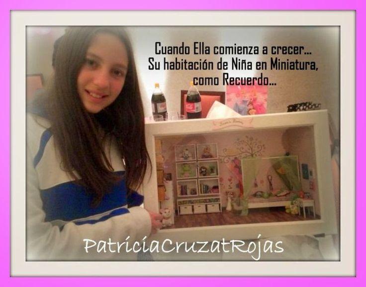 Patricia Cruzat Artesania y Color: Su habitación de Niña en un Gran Cuadro. Un Recuerdo en Miniaturas para ella.