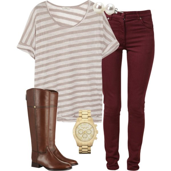 """maroon for fall>>>"" by tex-prep on Polyvore"