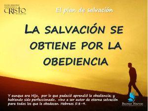 Heb 5:8-10  Y aunque era Hijo, por lo que padeció aprendió la obediencia;   y habiendo sido perfeccionado, vino a ser autor de eterna salvación para todos los que le obedecen;  y fue declarado por Dios sumo sacerdote según el orden de Melquisedec.