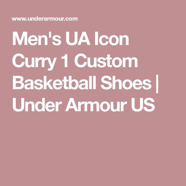 edf893520a606 Men s UA ICON Curry 1 Custom Basketball Shoes