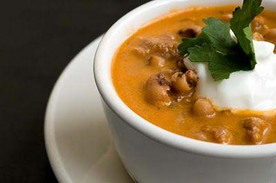 Black-eyed pea and chorizo soup