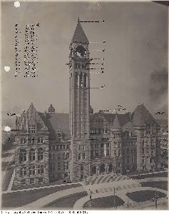 City Hall, clock not yet installed Toronto Archives, Fonds 200, Series 376, File 3, Item 1b