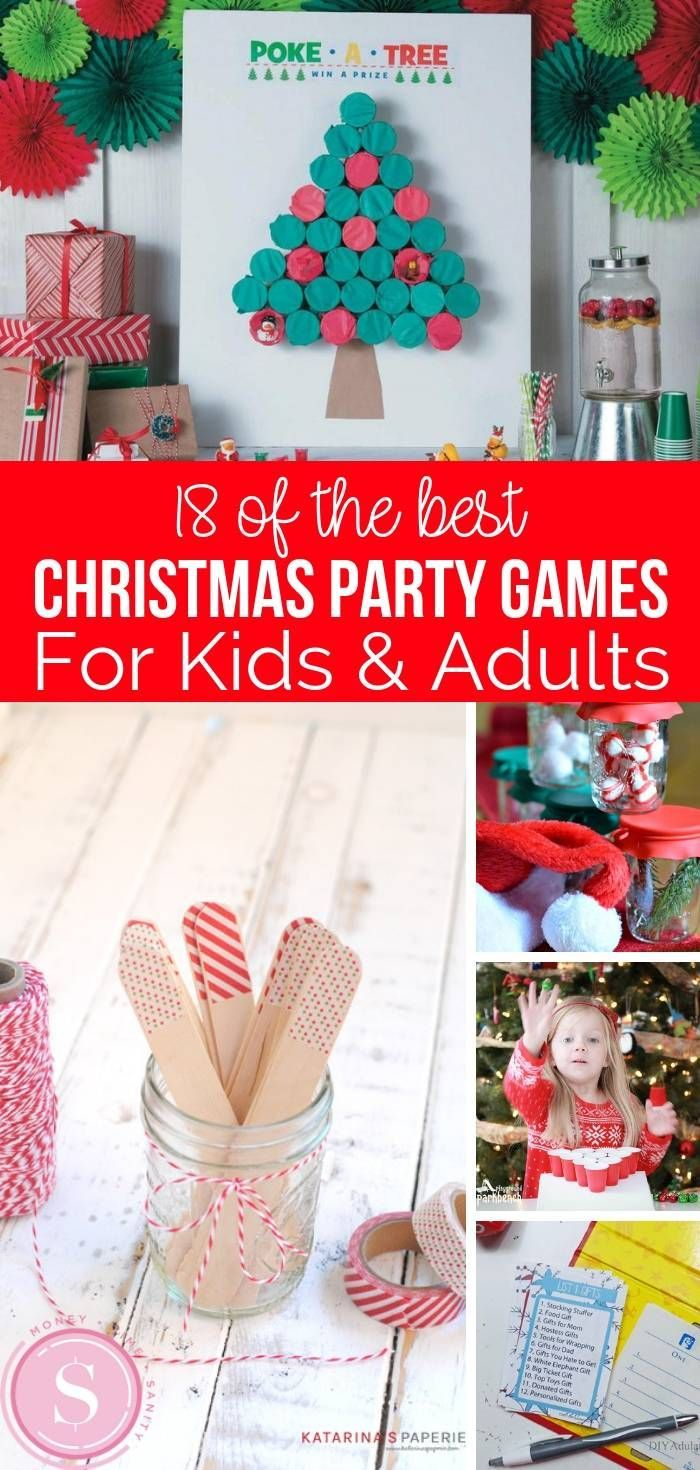 18 Fun Christmas Party Games For Kids Adults These Games Are Great To Ma Fun Christmas Party Games Christmas Party Games For Kids Christmas Party Activities