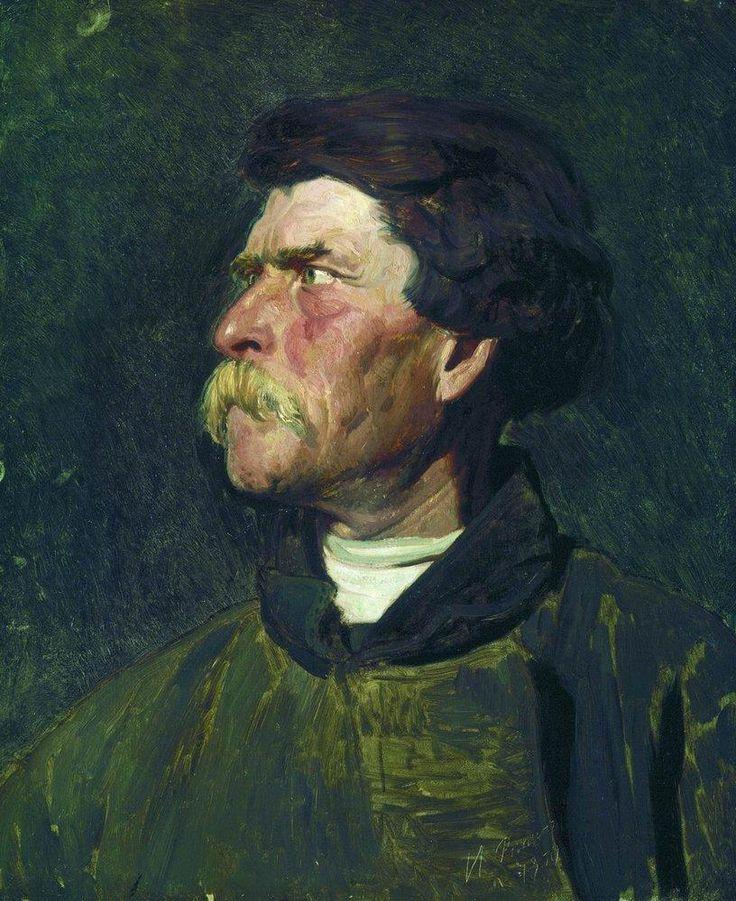 Head of peasant - Ilya Repin (1844 – 1930, Ukrainian-born Russian artist).