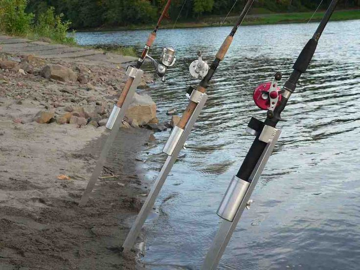 56 best tv fishing rod holders images on pinterest for Homemade fishing rod holders for bank fishing