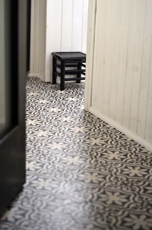 Moroccan flooring looks striking and stunning! Will work well in an area with few furnishing and smaller floorspace, like an entrance hall or passage