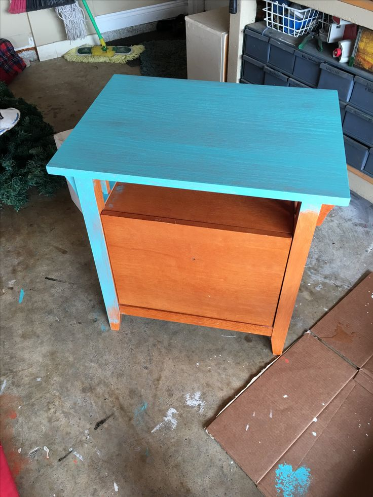 Redoing a small file cabinet
