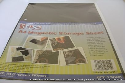 Magnetic sheets for storing dies
