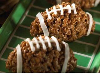 Rice Krispy Footballs.