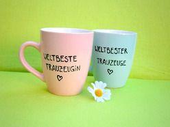 Hochzeit ★  Geschenk für Trauzeugin ★  Tassen