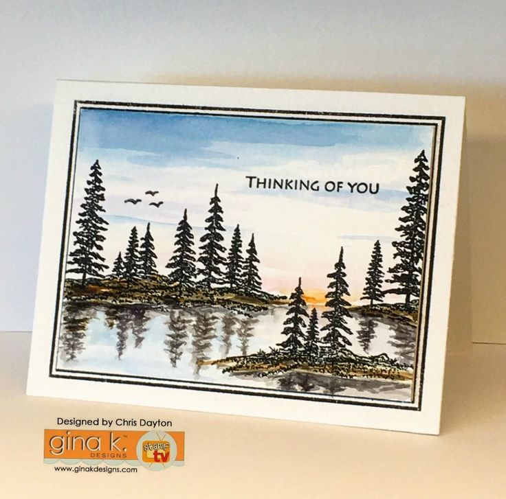 Card Making Ideas Gina K Part - 45: Framescape - Winter Trees, Gina K Designs, Illustrated By Theresa Momber