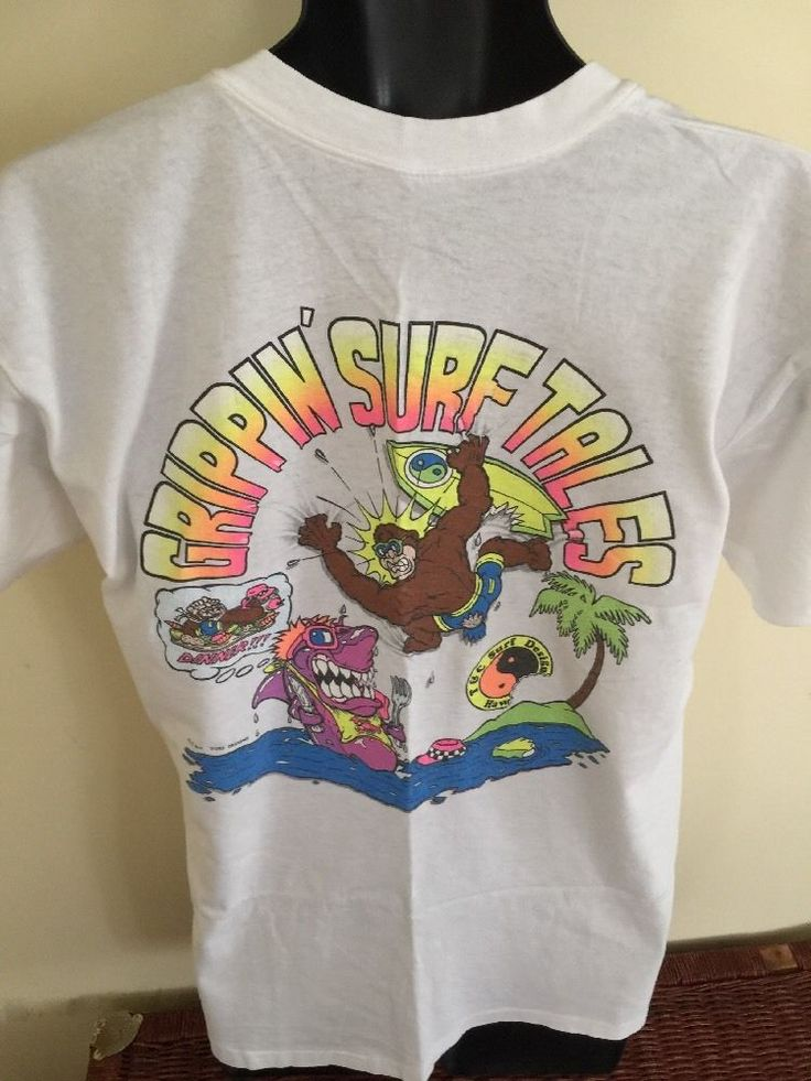 VIntage 1980s T&C SURF DESIGNS TOWN AND COUNTRY THRILLA GORILLA SHIRT VTG 80S L #TcSurfDesigns #BasicTee