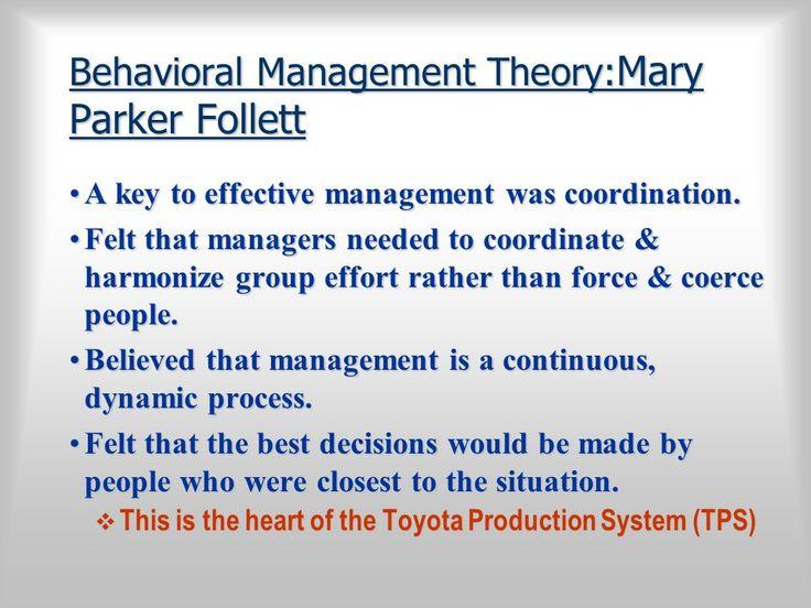 mary parker follet theory