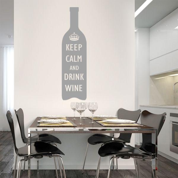 10-604 naklejka ścienna szablon malarski 'drink wine' :: naklejkidekoracyjne.net