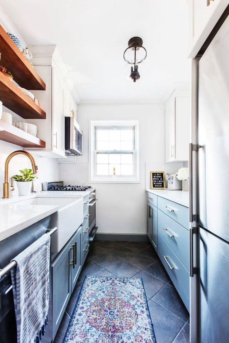 Why A Galley Kitchen Rules In Small Kitchen Design Galley Kitchens Are A Popular D In 2020 Galley Kitchen Renovation Kitchen Designs Layout Kitchen Remodel Small