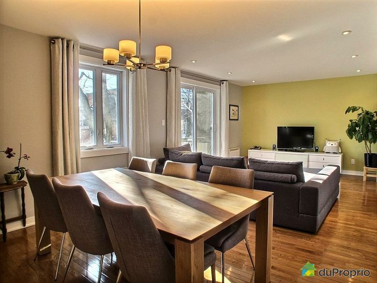 Check out this Dining Room / Living Room in Le Plateau-Mont-Royal #DuProprio