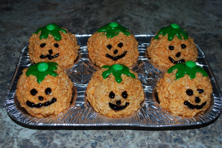 Jack O Latern Rice Krispy Treats Recipe