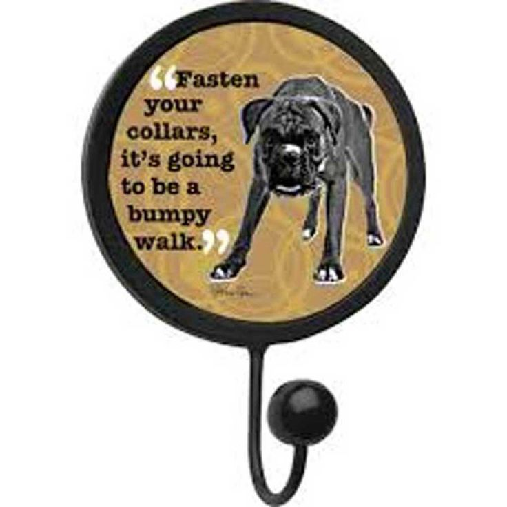 ThirstyStone Get Hooked FASTEN YOUR COLLARS BUMPY WALK dog wall leash hook